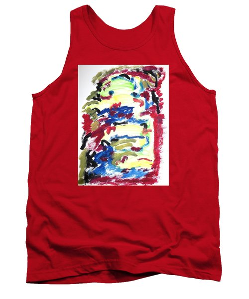 Tank Top featuring the painting Spatial Outwardness by Esther Newman-Cohen