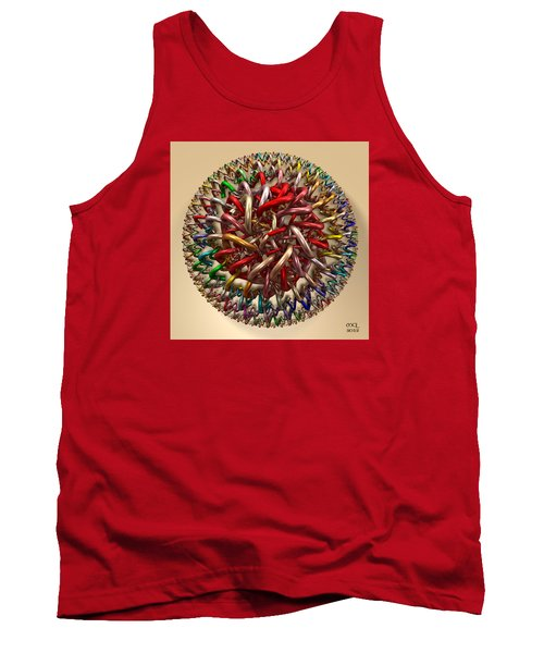 Tank Top featuring the digital art Spawn by Manny Lorenzo