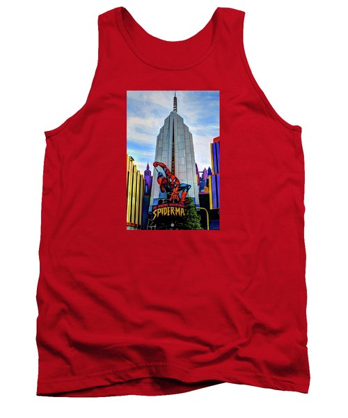 Tank Top featuring the photograph Spiderman by Tom Prendergast