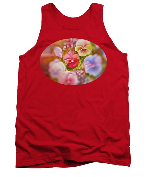 Tank Top featuring the painting Spirit Petals by Patricia Schneider Mitchell