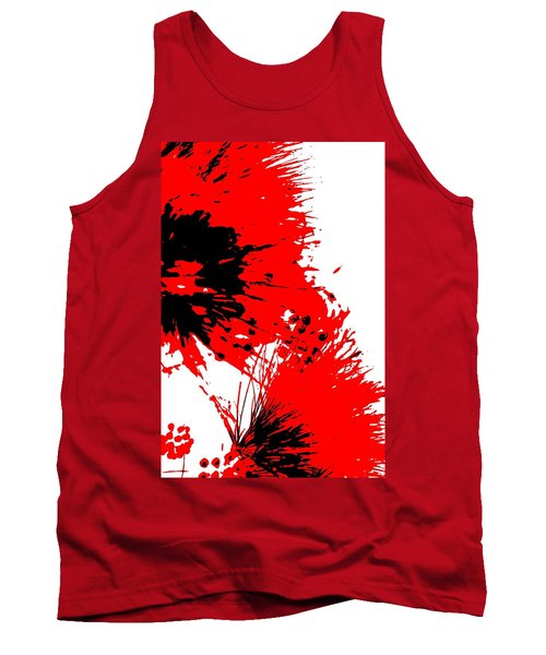 Splatter Black White And Red Series Tank Top