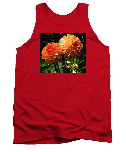 Splendor Of Fall Dahlias  Tank Top