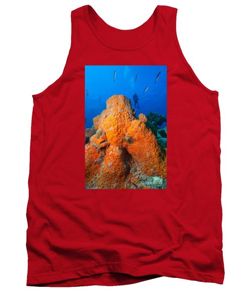 Tank Top featuring the photograph Sponge Mountain by Aaron Whittemore