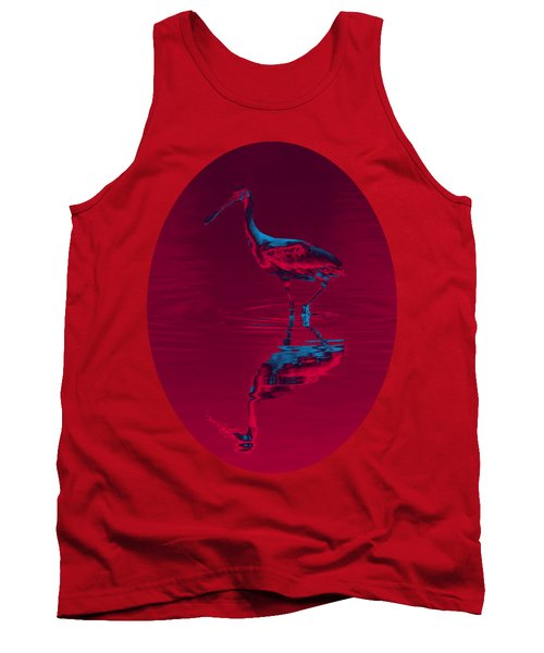 Spoonbill Abstract Decor Tank Top