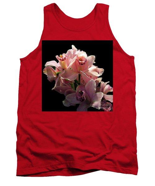 Spray Of Pink Orchids Tank Top by Merton Allen