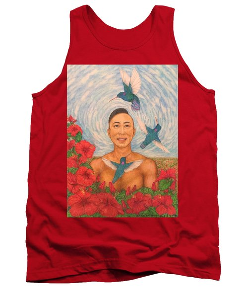 Spring Amazed By The Hummingbirds Tank Top by Kent Chua