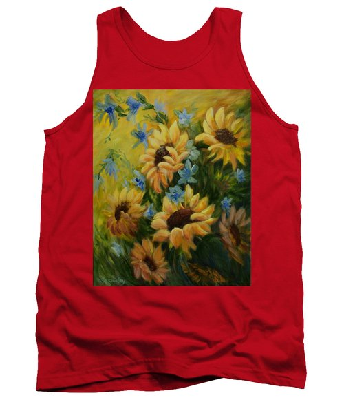 Sunflowers Galore Tank Top by Joanne Smoley