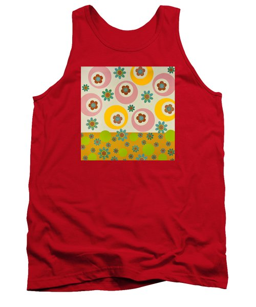Tank Top featuring the mixed media Spring Delight by Gloria Rothrock