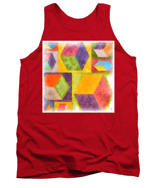 Square Cubes Abstract Tank Top
