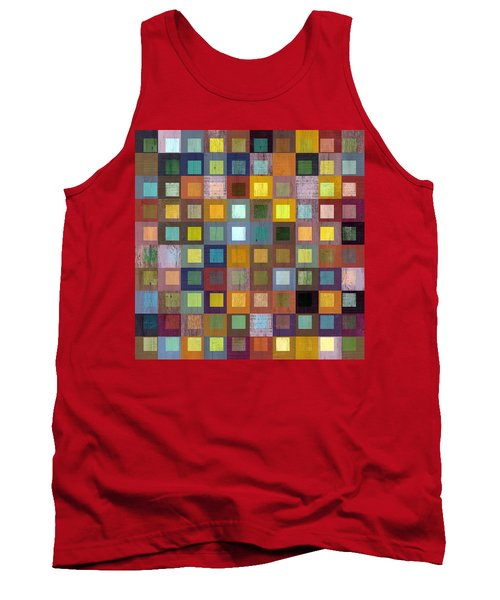 Tank Top featuring the digital art Squares In Squares One by Michelle Calkins