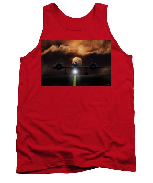 Tank Top featuring the digital art Sr-71 Supermoon by Peter Chilelli
