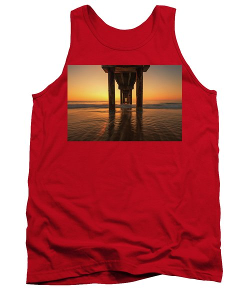 St Augustine Beach Pier Morning Light Tank Top