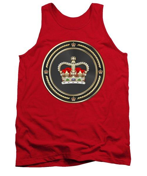 St Edward's Crown - British Royal Crown Over Red Velvet Tank Top