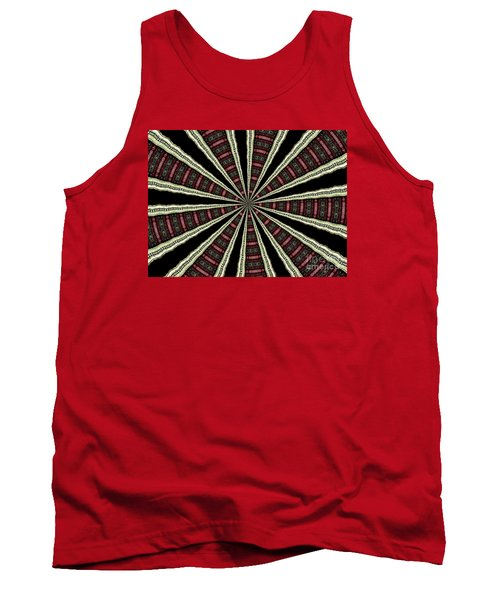 Stained Glass Kaleidoscope 14 Tank Top by Rose Santuci-Sofranko