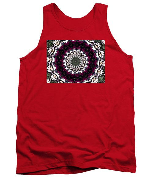 Stained Glass Kaleidoscope 4 Tank Top by Rose Santuci-Sofranko