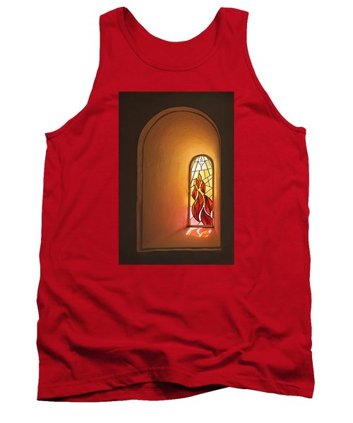 Tank Top featuring the photograph Stained Glass Window by Inge Riis McDonald
