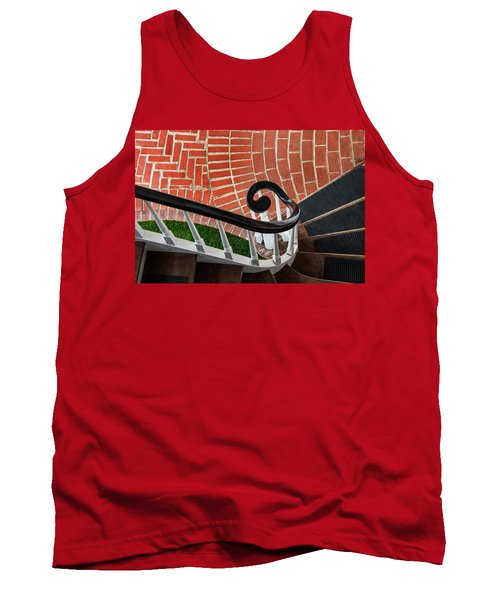 Staircase To The Plaza Tank Top by Gary Slawsky
