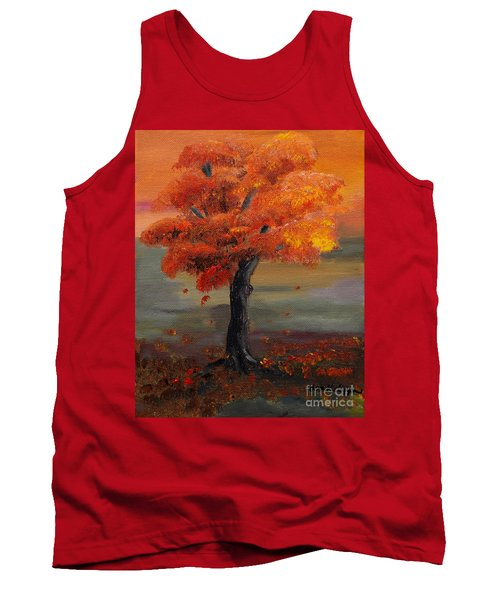 Stand Alone In Color - Autumn - Tree Tank Top