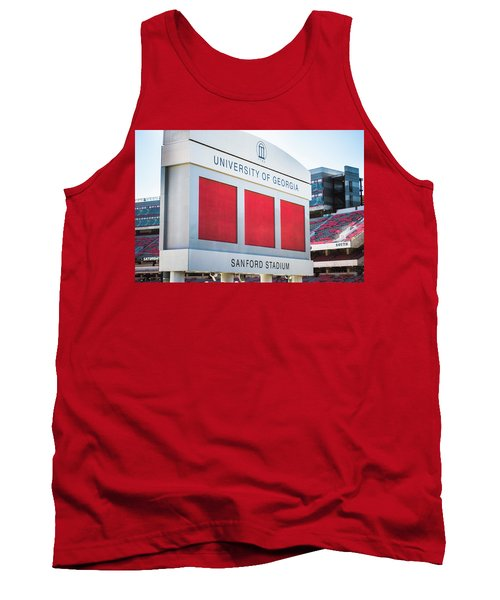 Tank Top featuring the photograph Standing Tall Over Sanford Stadium  by Parker Cunningham