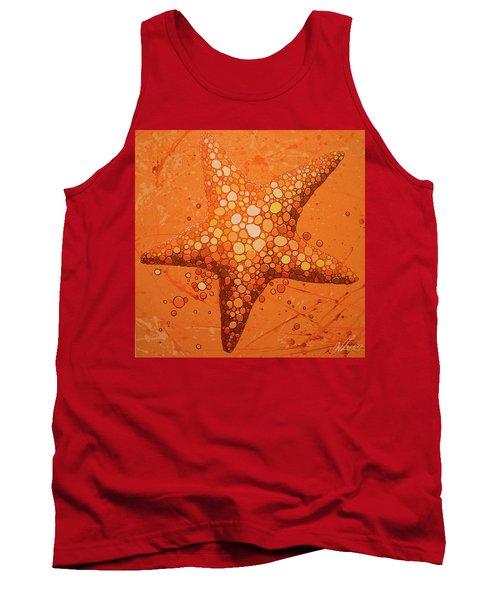 Starfish In Coral Tank Top