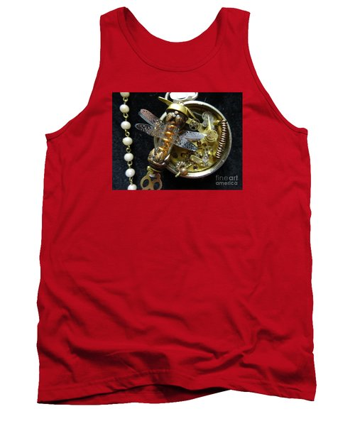Steampunk Dragonfly Pylon Tank Top by Justin Moore