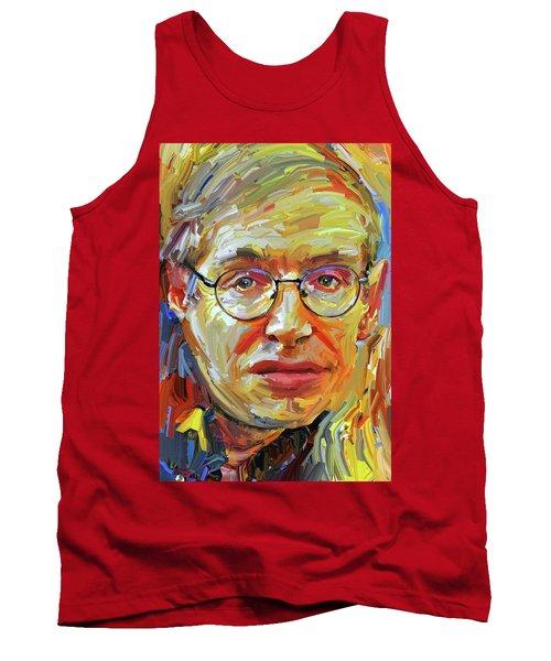 Stephen Hawking Tribute Portrait 4 Tank Top