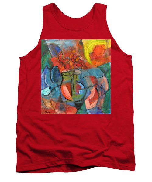 Still Life-flowers With Fruit Tank Top