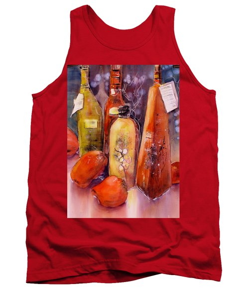 Still Life Olive Oil And Peppers Tank Top