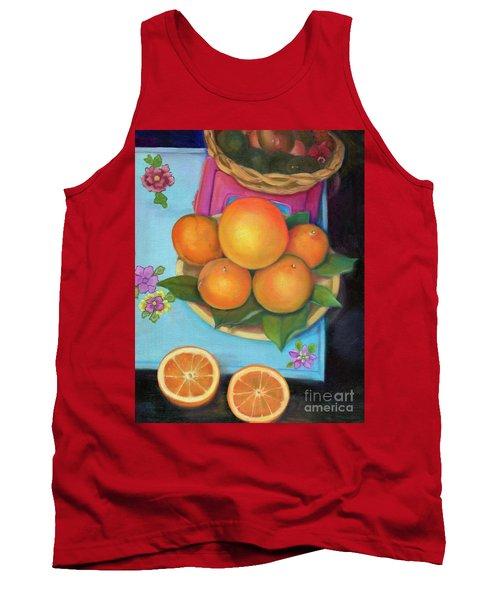 Still Life Oranges And Grapefruit Tank Top