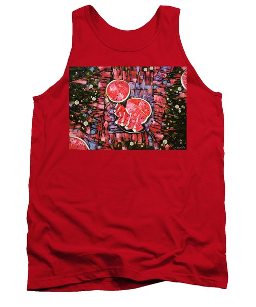 Tank Top featuring the painting Still Life. The Taste Of Summer. by Anastasija Kraineva