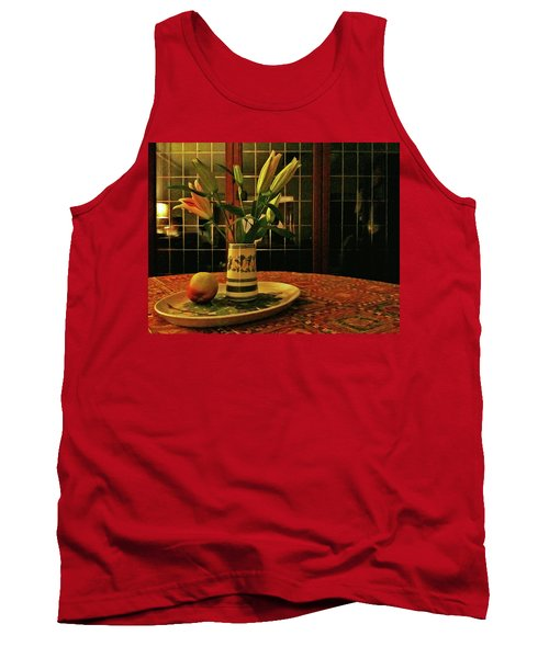 Tank Top featuring the photograph Still Life With Apple by Anne Kotan