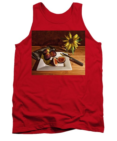 Still Life With Flower And Figs Tank Top