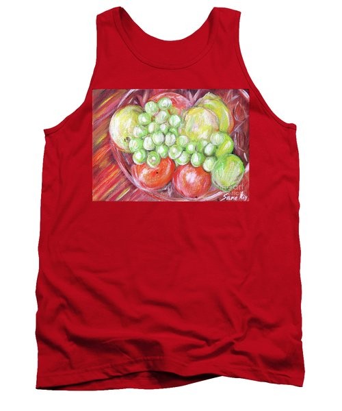 Still Life With Fruits. Harvest Time.painting  Tank Top