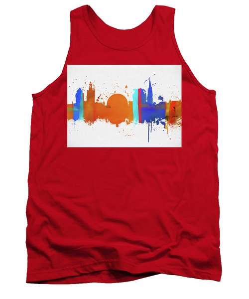Stockholm Colorful Skyline Tank Top