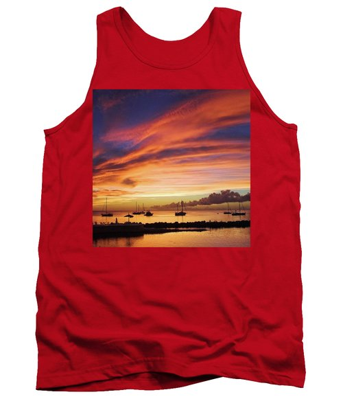 Store Bay, Tobago At Sunset #view Tank Top