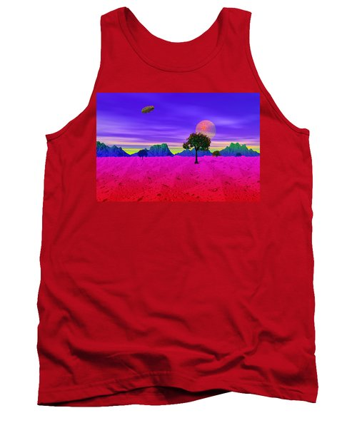 Strangely Place Tank Top by Mark Blauhoefer
