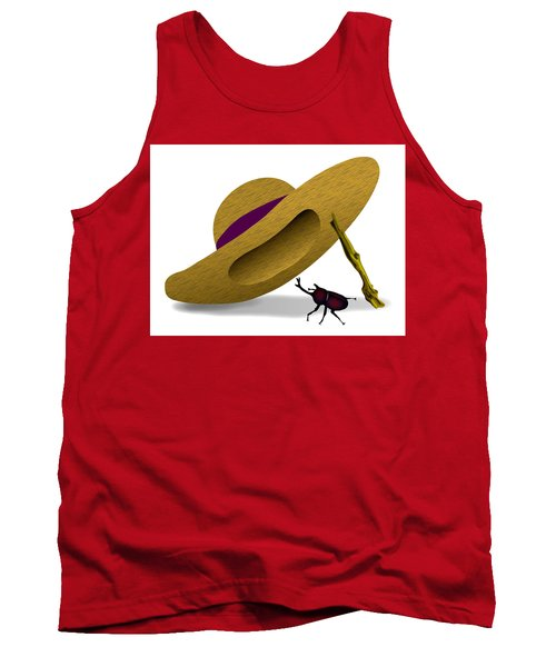 Straw Hat And Horn Beetle Tank Top