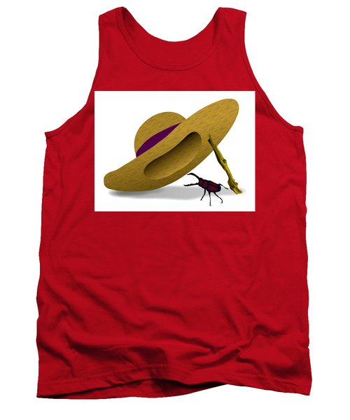 Straw Hat And Stag Beetle Tank Top