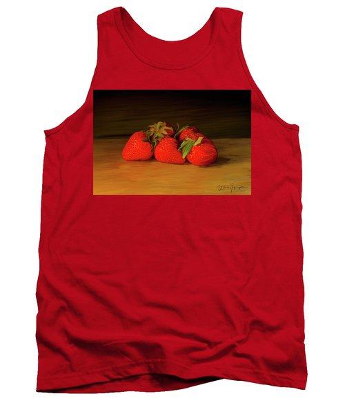 Strawberries 01 Tank Top by Wally Hampton
