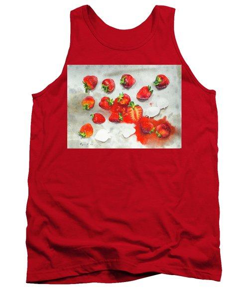 Strawberries On Paper Towel Tank Top