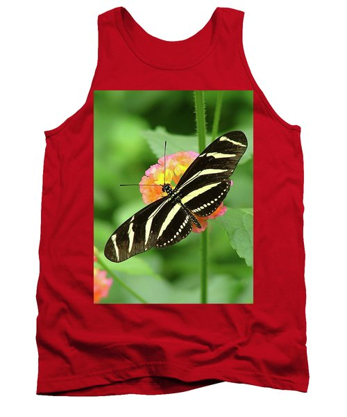 Tank Top featuring the photograph Striped Butterfly by Wendy McKennon