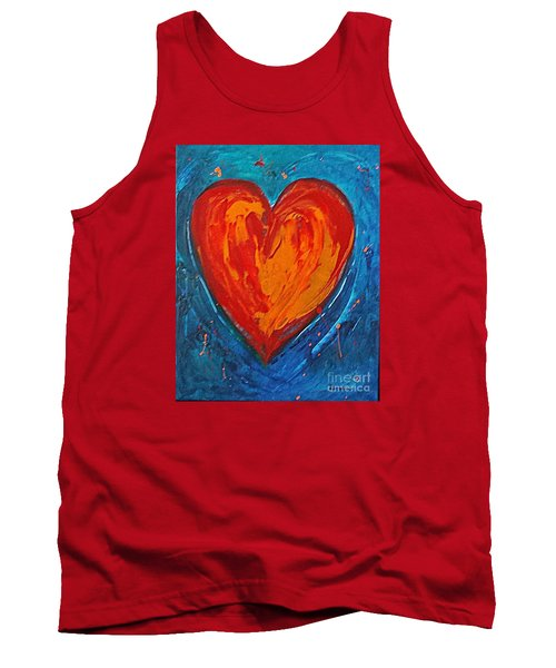 Tank Top featuring the painting Strong Heart by Diana Bursztein