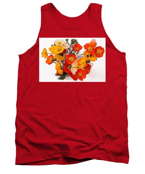 Stunning Vibrant Yellow Orange Poppies  Tank Top