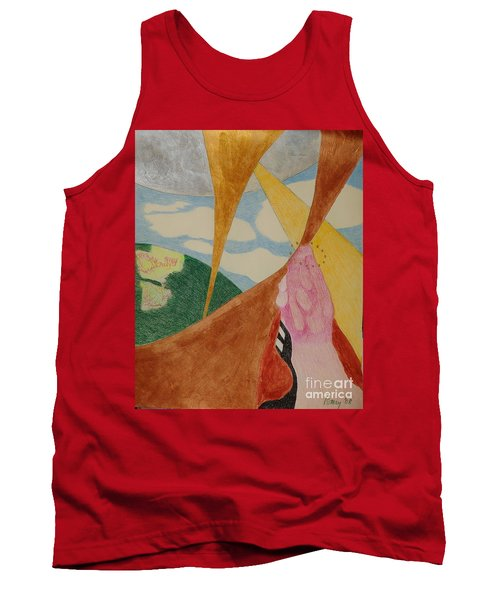 Tank Top featuring the drawing Subteranian  by Rod Ismay