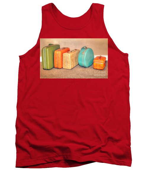 Suitcases Tank Top by Marion Johnson