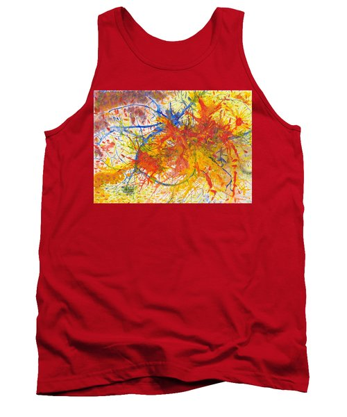 Summer Branches Alfame With Flower Acrylic/water Tank Top