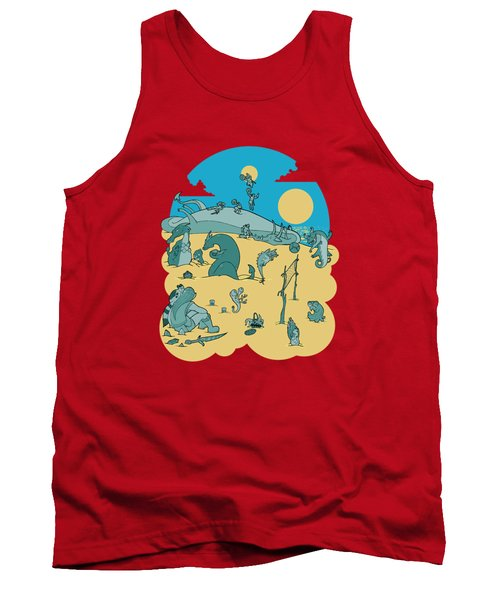 Summer Game On Vacation  Tank Top