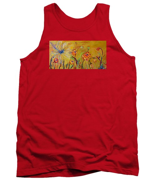 Summer Hibiscus Flower Tank Top