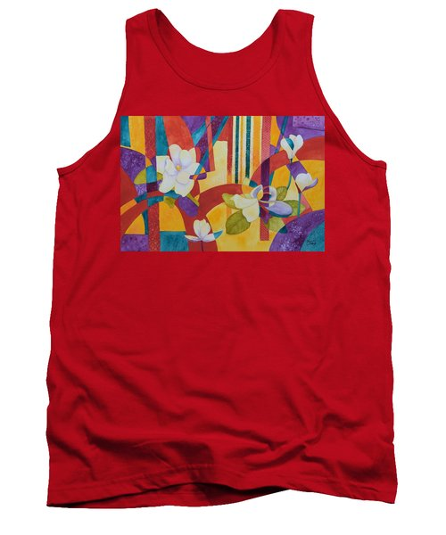 Summer Magnolias Tank Top