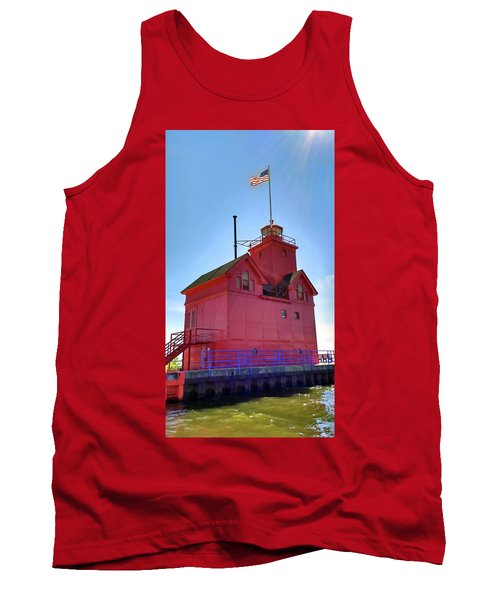 Tank Top featuring the photograph Summer Sun And Big Red by Michelle Calkins